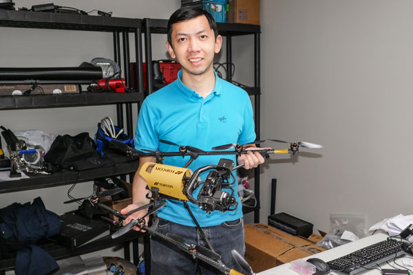 Jeremey Wang is developing new drone technologies.