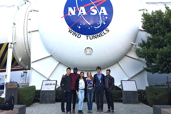 Students visit NASA facility in Mountain View, California.