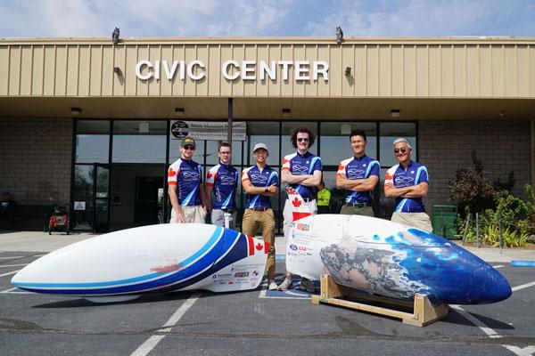 Human-powered Vehicle Design Team members