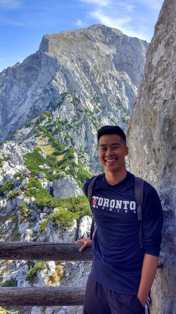 U of T Engineering undergrad Joseph Choy (Year 3 MSE) at Obersalzberg in Bavaria, Germany. Photo: Courtesy Joseph Choy.