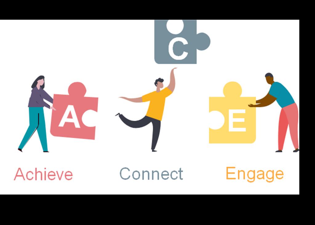 ACE logo. Achieve. Connect. Engage.